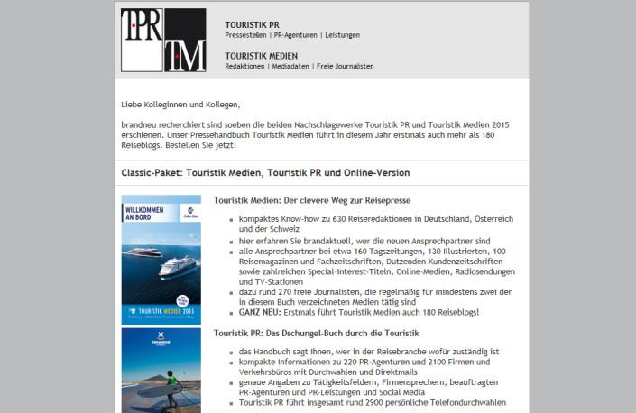 Touristik PR und Touristik Medien